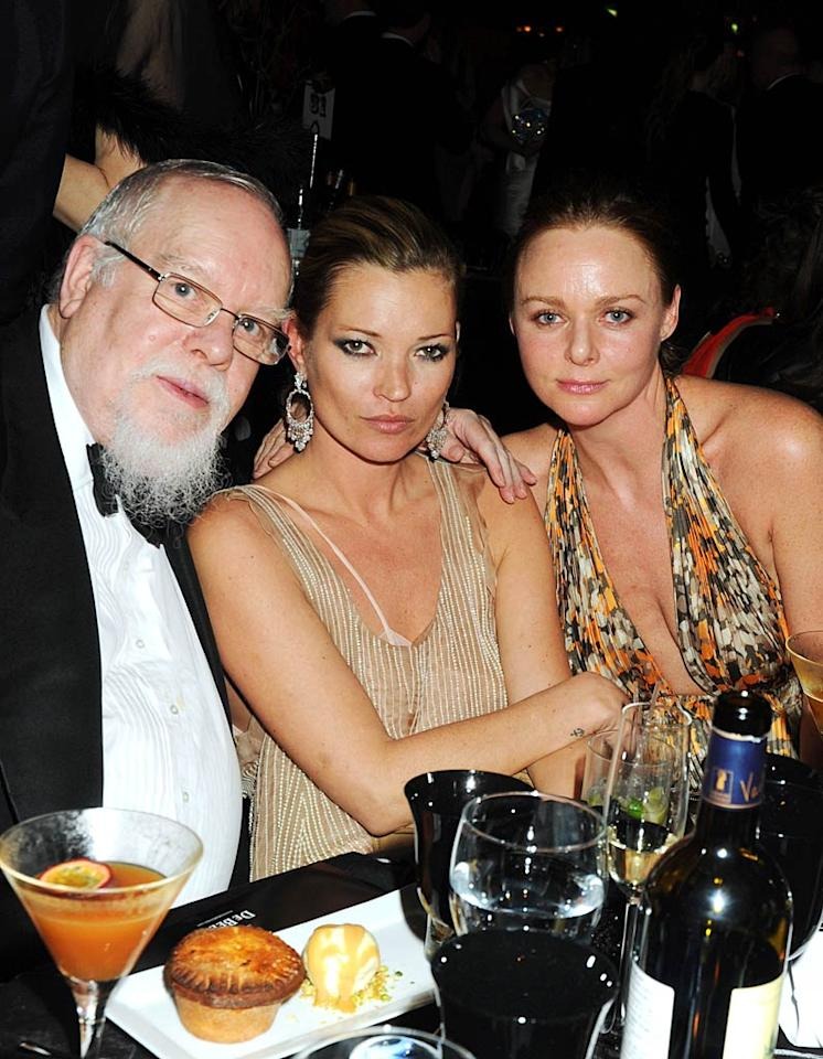 "Naomi's old pal Kate Moss dined on posh nosh with artist Sir Peter Blake and designer Stella McCartney at the Love Ball, a Fashion Week charity event hosted by model Natalia Vodianova, British <i>Harper's Bazaar</i>, and De Beers in aid of the Russian model's Naked Heart Foundation. Dave M. Benett/<a href=""http://www.gettyimages.com/"" target=""new"">GettyImages.com</a> - February 23, 2010"