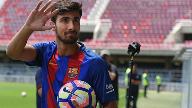 <p>Andre Gomes joined Barcelona for €35m from Valencia last summer, after heavily impressing in his two seasons at the club as he defied the hapless Gary Neville.</p> <br><p>Despite being voted the worst signing of the season by Marca, Gomes featured regularly for Barcelona last season though often as a utility player in a wide range of positions.</p> <br><p>He doesn't appear to be essential to Barcelona's plans, and his future at the club may well depend on the signing of Philippe Coutinho.</p>