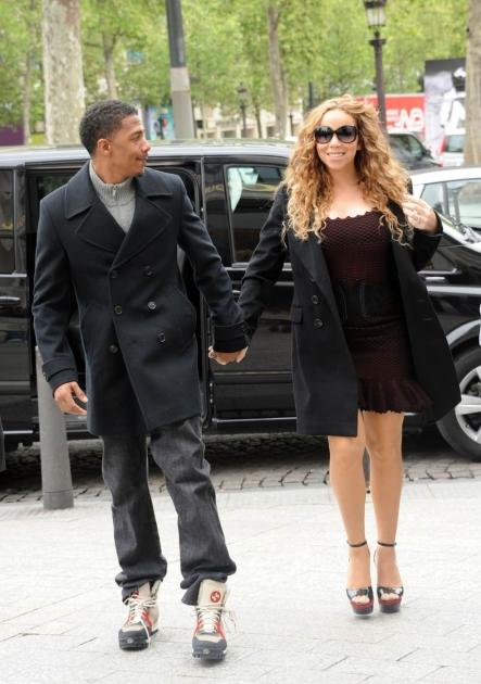 Mariah Carey and Nick Cannon step out in style as they go shopping on the Champs Elysees in Paris on April 27, 2012   -- Pacific Coast News