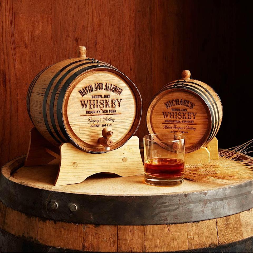<p>If your dad is a whiskey drinker, this <span>personalized barrel</span> ($85-$200) is the ultimate gift.</p>