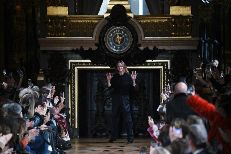 Time for change: British designer Stella McCartney acknowledges the applause at the end of her Paris fashion week show