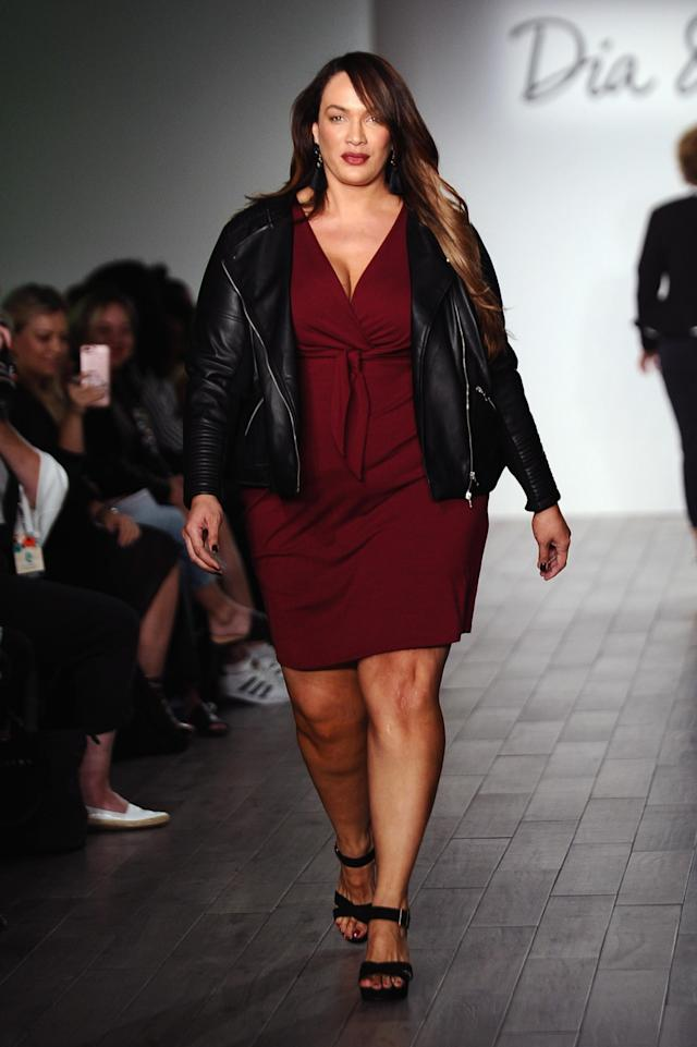 Nia Jax walks the runway during the Dia&Co fashion show and industry panel at the CURVYcon at Metropolitan Pavilion West on September 8, 2017 in New York City.
