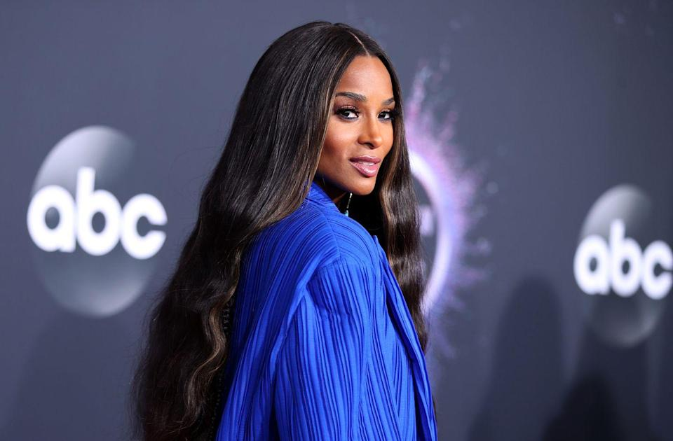 """<p>The two subtle strands of highlights framing<strong> Ciara</strong>'s face add an instant touch of warmth, and draw the eye to her face. If you're highlighting just two strands, you may be able to <a href=""""https://www.goodhousekeeping.com/beauty/hair/a33209588/how-to-lighten-hair/"""" rel=""""nofollow noopener"""" target=""""_blank"""" data-ylk=""""slk:lighten your hair naturally at home"""" class=""""link rapid-noclick-resp"""">lighten your hair naturally at home </a>for this one.</p>"""