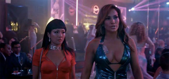 Constance Wu and Jennifer Lopez in Hustlers (Credit: STX)