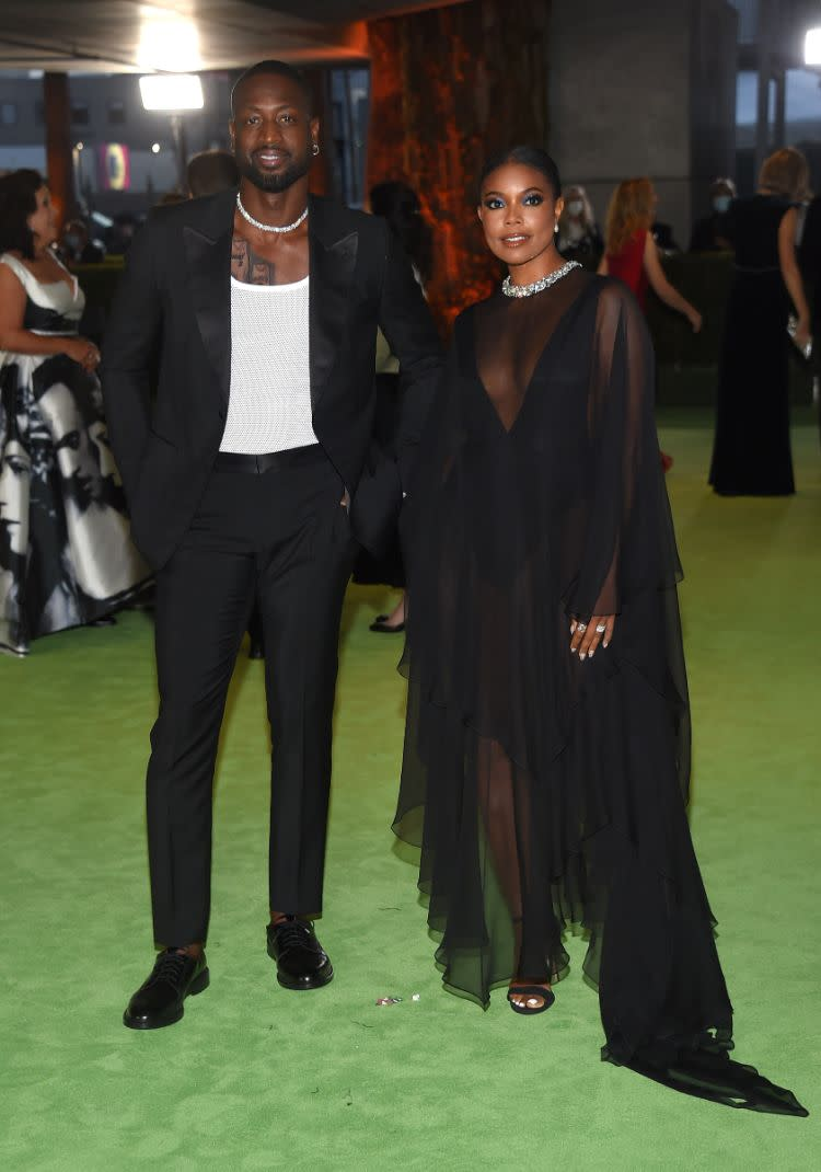 Dwyane Wade Gabrielle Union at the Academy Museum of Motion Pictures opening Gala honoring Haile Gerima and Sophia Loren on Sept. 25, 2021, in Los Angeles. - Credit: MEGA