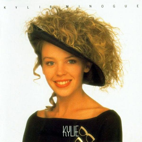 <b>Kylie debut album cover, 1989</b><br><br>Ms. Minogue debuted this unique hair/hat combo for her first album cover. We're glad this look didn't catch on.