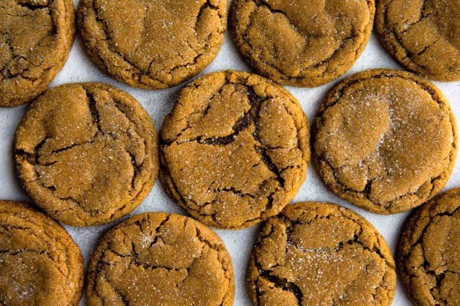 """<p>New Englanders are mighty fond of one old-school ingredient: molasses. The sticky syrup, when paired with warm spices, form a chewy, not-too-sugary cookie that stands the test of time.</p><p>Get the recipe from <a href=""""https://sallysbakingaddiction.com/2017/12/06/soft-molasses-cookies/"""" rel=""""nofollow noopener"""" target=""""_blank"""" data-ylk=""""slk:Sally's Baking Addiction"""" class=""""link rapid-noclick-resp"""">Sally's Baking Addiction</a>.</p>"""