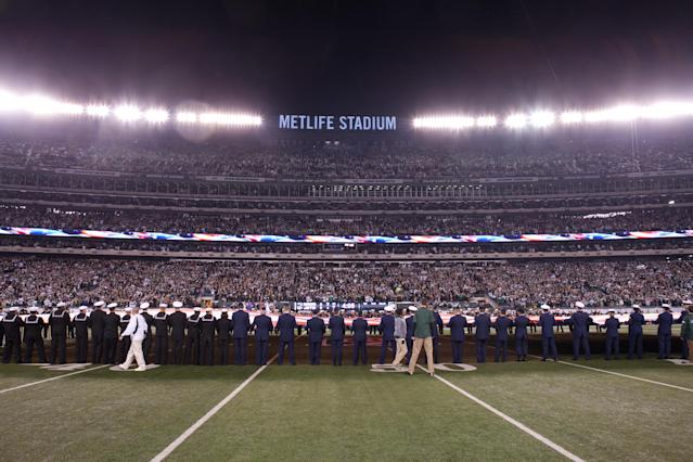 "The founder of a radical pro-police organization blasted NFL player protests and turned down a partnership offer from the <a class=""link rapid-noclick-resp"" href=""/nfl/teams/nyj"" data-ylk=""slk:New York Jets"">New York Jets</a>. (Getty)"