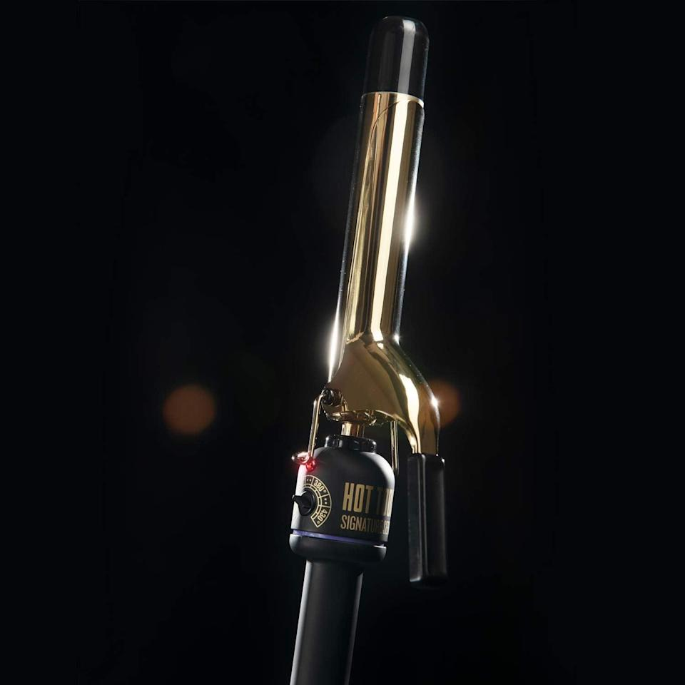 <p>The <span>Hot Tools Signature Series Gold Curling Iron/Wand</span> ($35, originally $40) comes in a variety of sizes ranging from half an inch to two inch. It's a long-lasting curling iron that has been beloved and trusted for years. It has a gold-plated barrel with extra-long cool tip and goes up to 430 degrees fahrenheit.</p>