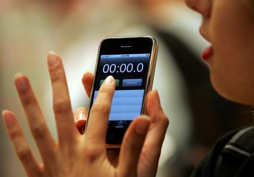 Timer app on an iPhone