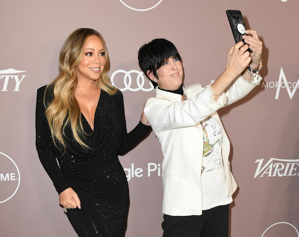 BEVERLY HILLS, CALIFORNIA - OCTOBER 11:  Mariah Carey and Diane Warren attend Variety's 2019 Power Of Women: Los Angeles Presented By Lifetime at the Beverly Wilshire Four Seasons Hotel on October 11, 2019 in Beverly Hills, California. (Photo by Jon Kopaloff/Getty Images,)