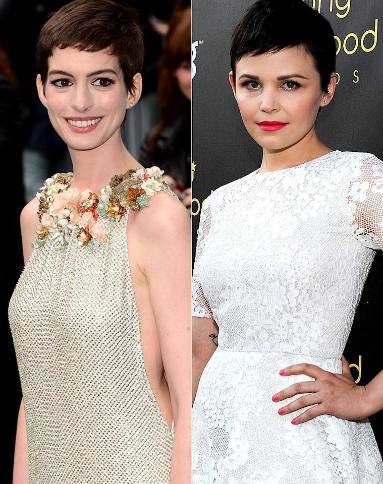 """<p class=""""MsoListParagraph"""" style=""""text-align:justify;"""">""""Once Upon a Time"""" star Ginnifer Goodwin has been donning a super-short pixie cut for a while now, and while some may think it's daring, the 34-year-old doesn't understand the fuss. """"People say it's a difficult hairstyle to pull off, but I don't see how it is tricky,"""" she told <em>People</em> in June. More recently, fellow brunette beauty Anne Hathaway chopped off her locks and debuted a similar style all in the name of her role in the upcoming film """"Les Miserables."""" Hathaway, however, didn't find the look as easy to get used to as Goodwin. """"Cutting my hair reduced me to, like, mental patient-level crying,"""" the 29-year-old said on """"Live With Kelly"""" in July. """"I was inconsolable.""""</p>"""