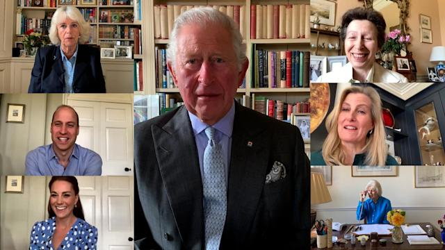 The Royal Family has teamed up for calls and video messages. (Royal Family)