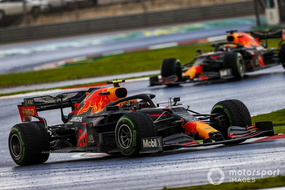 """Alex Albon, Red Bull Racing RB16, Max Verstappen, Red Bull Racing RB16<span class=""""copyright"""">Andy Hone / Motorsport Images</span>"""
