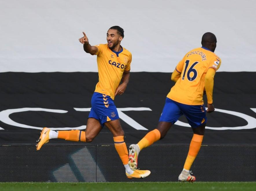 <p>Dominic Calvert-Lewin celebrates scoring in the first minute</p>Getty Images