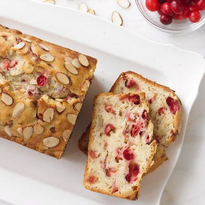 """<p>This is especially delicious in the fall, but honestly the tangy cranberries and sweet toasted almonds are a good match any time of year.</p><p><strong><a href=""""https://www.countryliving.com/food-drinks/recipes/a33649/almond-cranberry-quick-bread-recipe-wdy1112/"""" rel=""""nofollow noopener"""" target=""""_blank"""" data-ylk=""""slk:Get the recipe"""" class=""""link rapid-noclick-resp"""">Get the recipe</a>.</strong></p><p><a class=""""link rapid-noclick-resp"""" href=""""https://www.amazon.com/USA-Pan-1140LF-Bakeware-Aluminized/dp/B0029JQEIC/?tag=syn-yahoo-20&ascsubtag=%5Bartid%7C10050.g.35246097%5Bsrc%7Cyahoo-us"""" rel=""""nofollow noopener"""" target=""""_blank"""" data-ylk=""""slk:SHOP LOAF PANS"""">SHOP LOAF PANS</a><br></p>"""