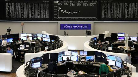 The German share price index DAX graph is pictured at the stock exchange in Frankfurt, Germany, May 27, 2019.    REUTERS/Staff