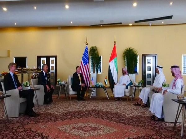 US Secretary of State, Mike Pompeo, met UAE Foreign Minister and National Security Advisor (Picture tweeted by Mike Pompeo)