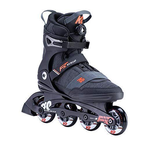 """<p><strong>K2 Skate</strong></p><p>amazon.com</p><p><strong>$188.18</strong></p><p><a href=""""https://www.amazon.com/dp/B07X85LQ6N?tag=syn-yahoo-20&ascsubtag=%5Bartid%7C2139.g.34587394%5Bsrc%7Cyahoo-us"""" rel=""""nofollow noopener"""" target=""""_blank"""" data-ylk=""""slk:BUY IT HERE"""" class=""""link rapid-noclick-resp"""">BUY IT HERE</a></p><p>K2 is a top skating brand that divides their products up into recreational, fitness, lifestyle and marathon. These top-rated skates for the brand are fitness-focused, allowing a great mix of stability, speed and comfort. Instead of excelling in one niche, they cover a little bit of everything so you can jump, squad and skate to hit your daily fitness goal.<br></p>"""