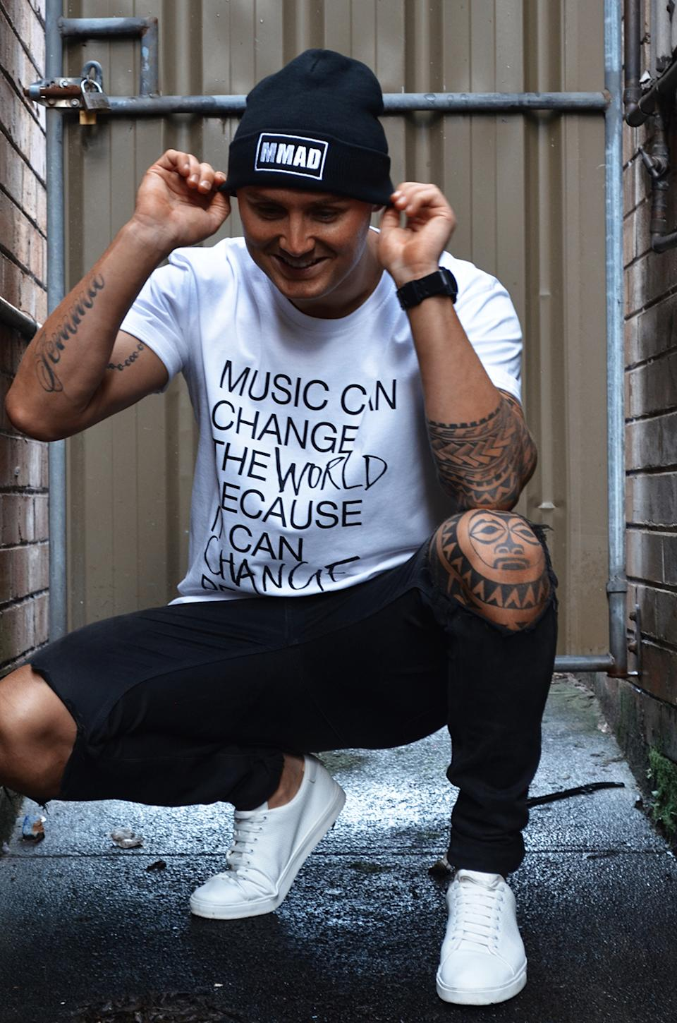 The rapper says music helped him 'survive'. Photo: Supplied
