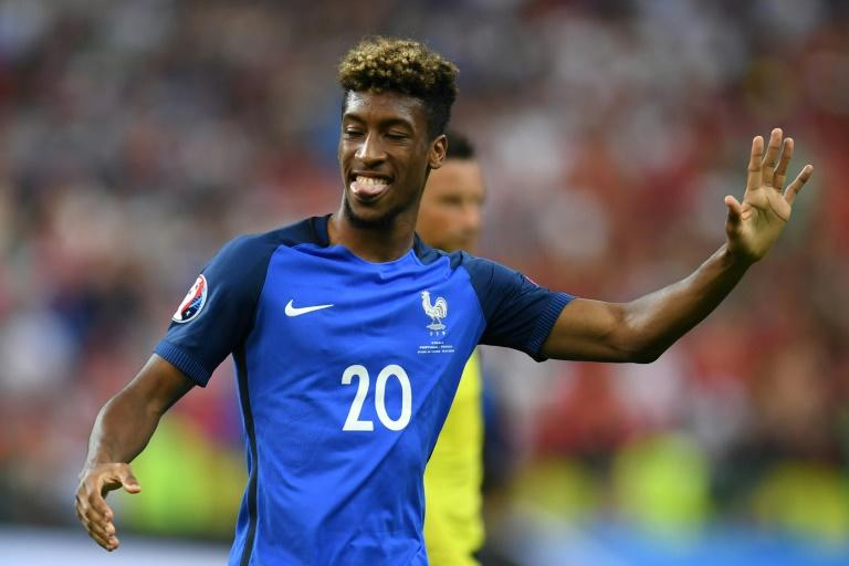 Bayern Munich have signed promising France winger Kingsley Coman from Juventus for 21 million euros ($23 million), the German champions and media reports said (AFP Photo/PATRIK STOLLARZ)