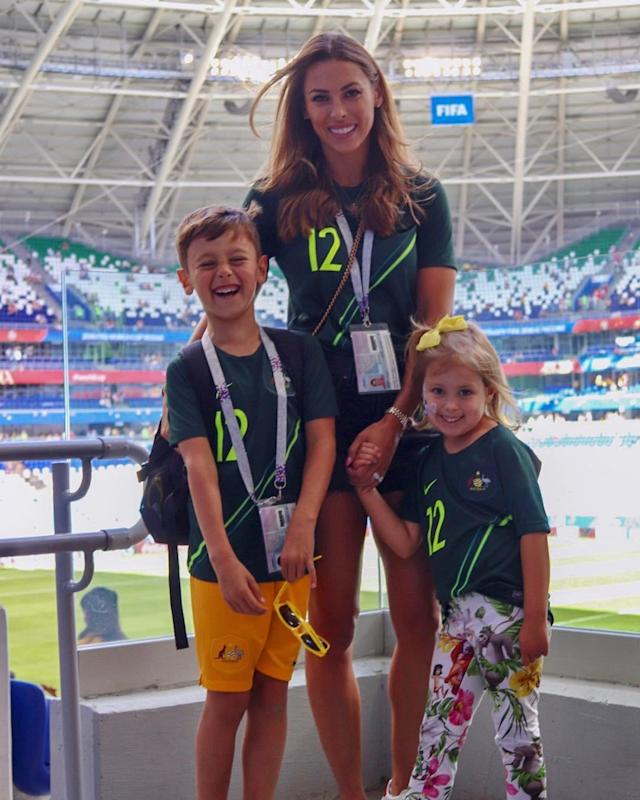<p>Dani Jones, wife of Australia's Brad Jones </p>