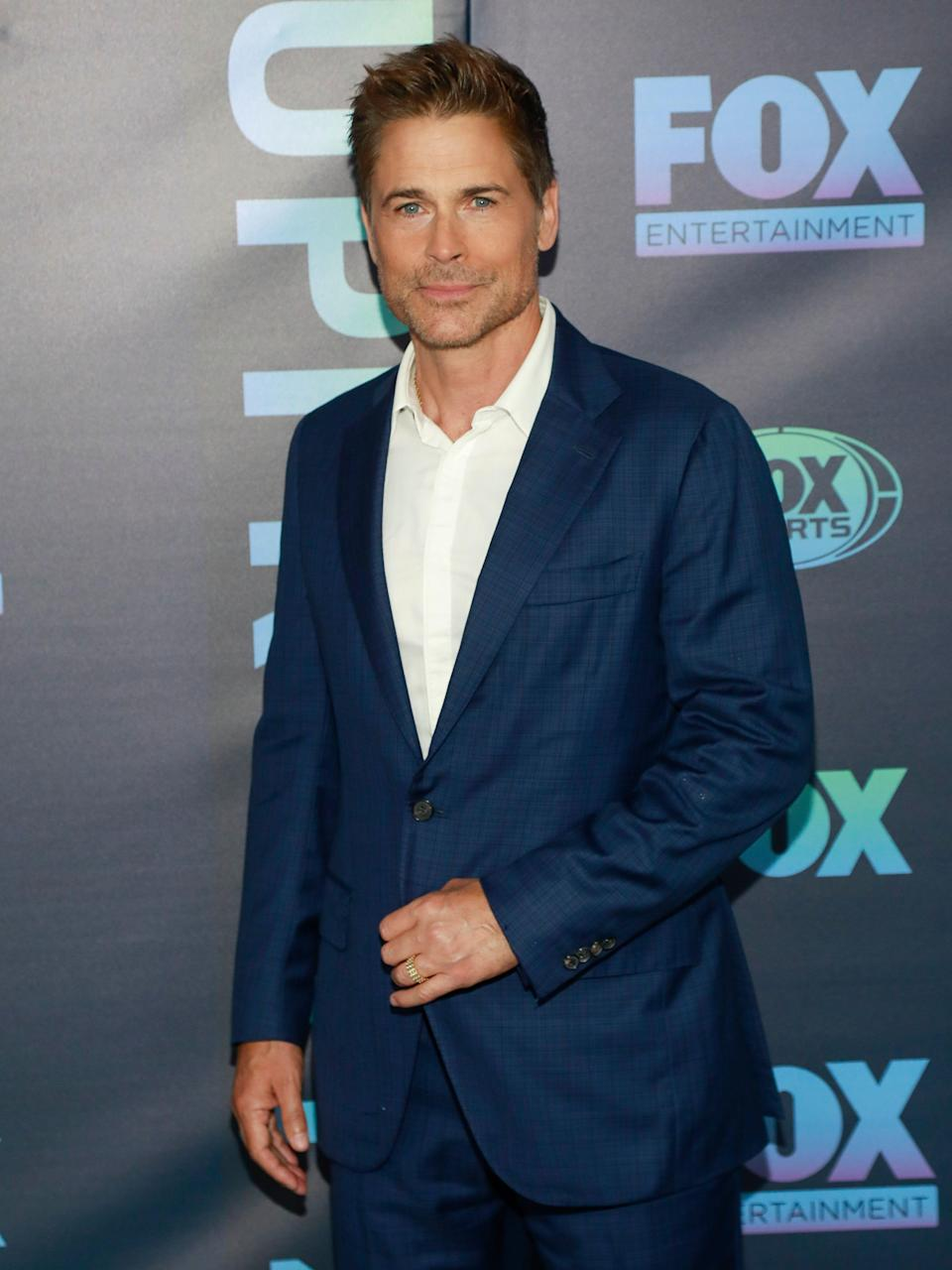 Rob Lowe shows off his full head of hair at the FOX 2019 Upfront party on Monday, May 13, 2019, in New York. (Photo: Andy Kropa/Invision/AP)