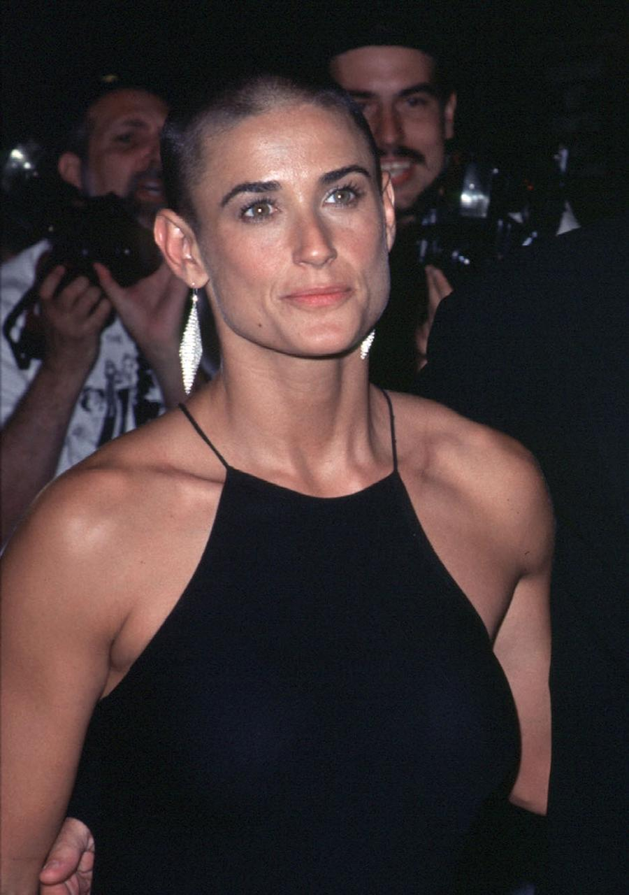 <p>Who remembers actress Demi Moore's perfect brows and jet black buzzcut back in '96? (Photo by Trevor Gillespie) </p>