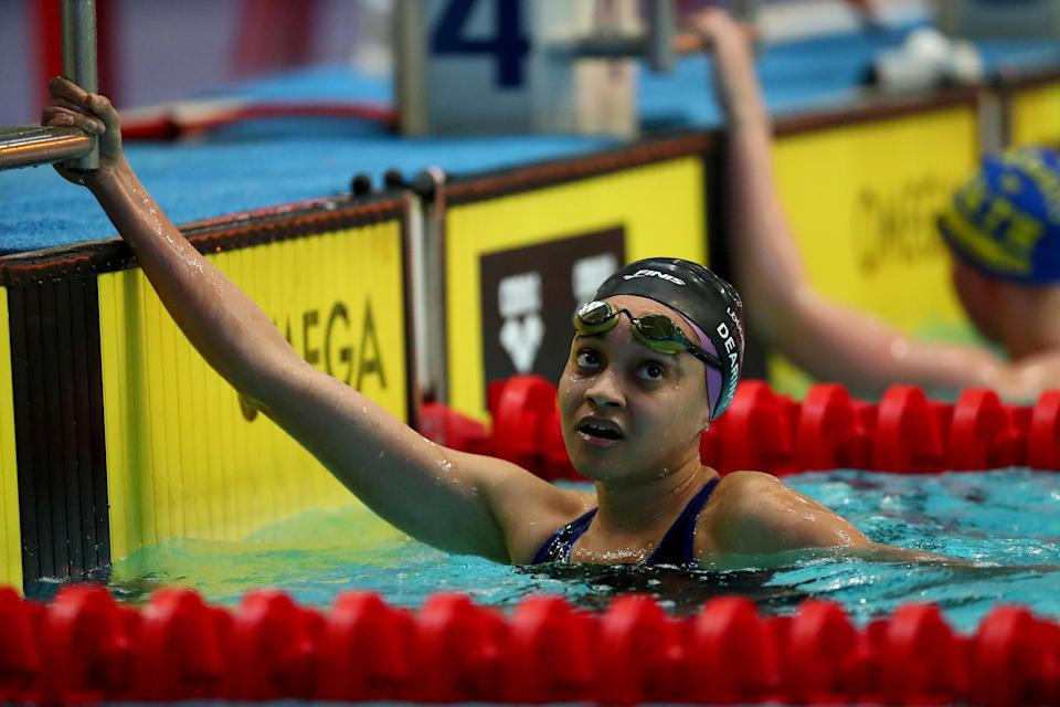Dearing, 24, hopes her historic selection for Team GB can banish an unsavoury past of racism in and around the pool