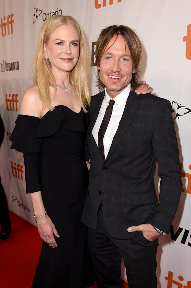 Nicole Kidman and Keith Urban attend <em>The Upside</em> premiere during the 2017 Toronto International Film Festival. (Photo: Getty Images)