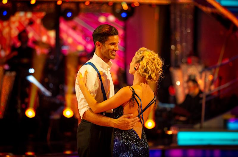 David James and Nadiya Bychkova take to the floor for their farewell dance (Credit: BBC)