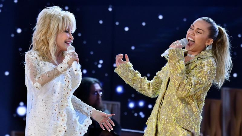 Miley Cyrus Celebrates Godmother Dolly Parton's Birthday With Fun Dress Up Videos