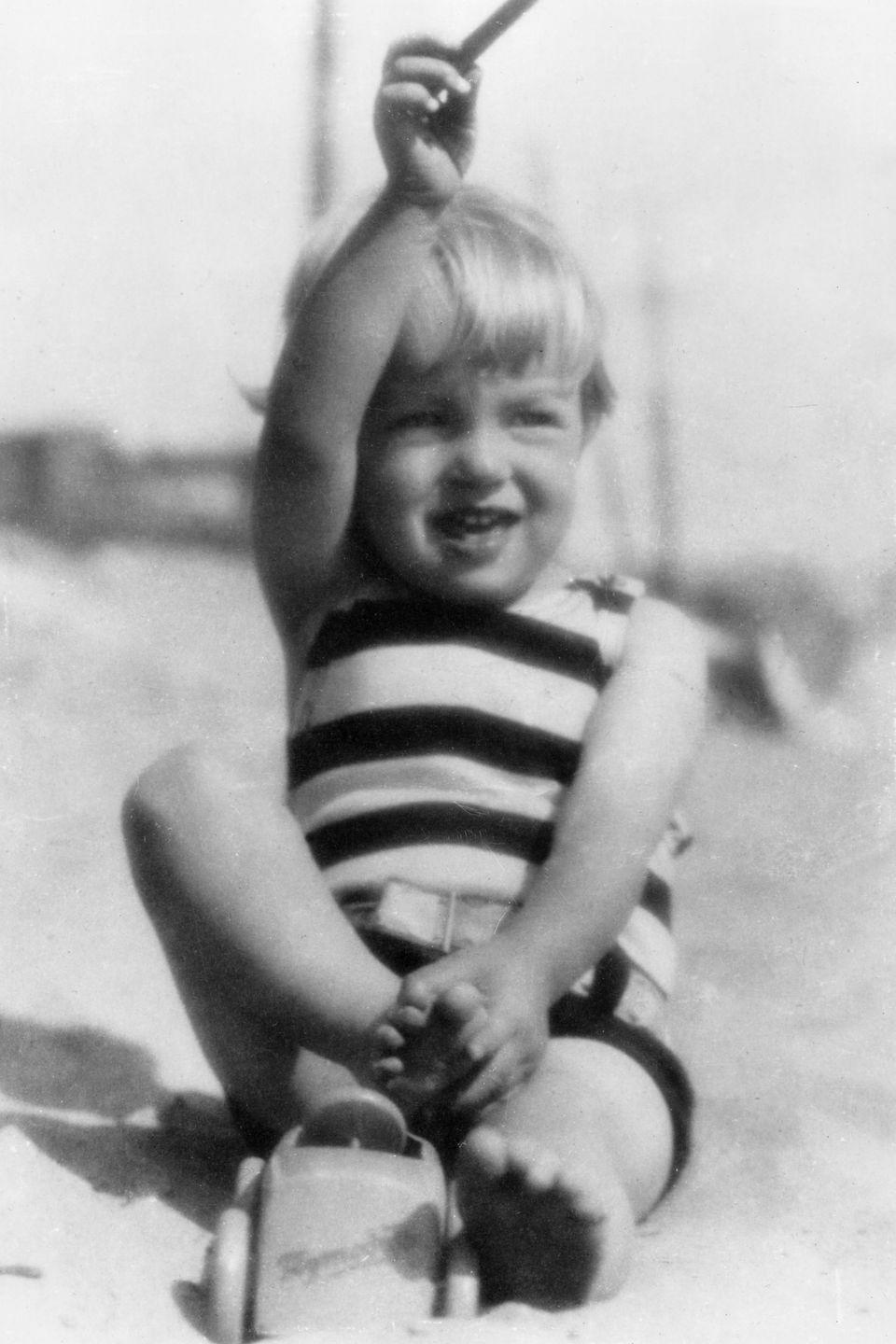 <p>Pictured at four years old. Norma was born in Los Angeles in 1926 where she found herself jumping around to various foster homes over the years after her mother Gladys was declared unfit to care for her. </p>
