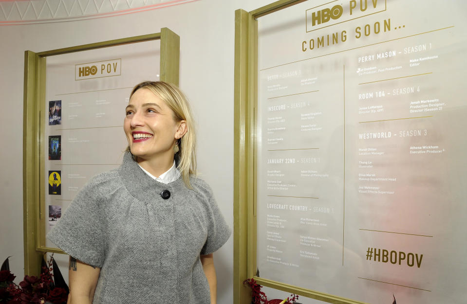 "WEST HOLLYWOOD, CALIFORNIA - DECEMBER 10:  Mandi Dillin attends the HBO POV ""That's a Wrap"" Celebration on December 10, 2019 in West Hollywood, California. (Photo by John Sciulli/Getty Images for HBO)"