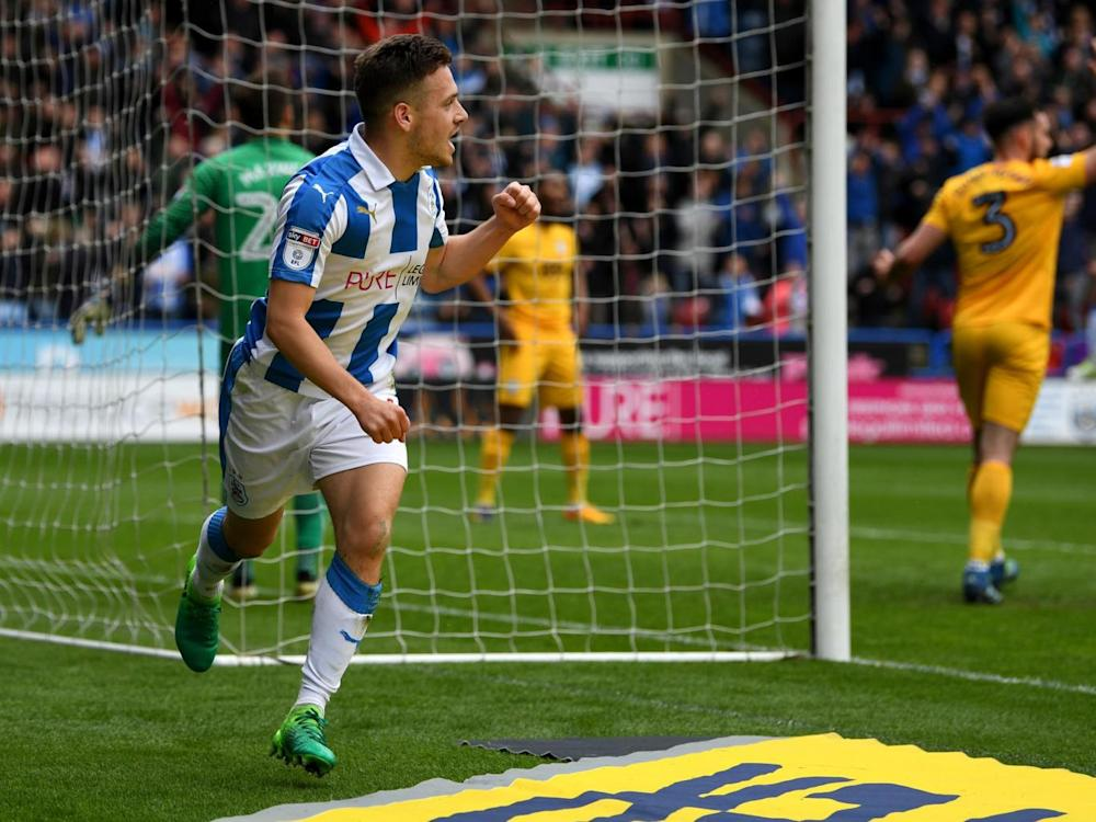 Jack Payne scored Huddersfield's second from a tight angle (Getty)