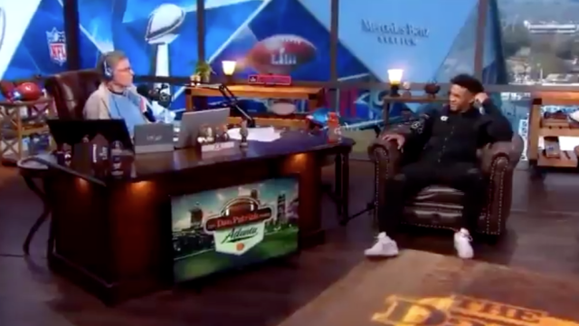 "<a class=""link rapid-noclick-resp"" href=""/ncaaf/players/255122/"" data-ylk=""slk:Kyler Murray"">Kyler Murray</a> wasn't in the mood to answer Dan Patrick's questions about his future. (Screenshot)"