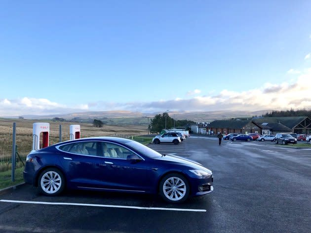 The Tesla Model S is one of the few electric cars that can truly, fully drive itself.
