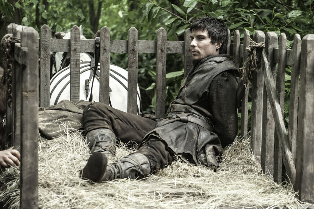 "Joe Dempsie in the ""Game of Thrones"" Season 3 episode, ""The Climb."""