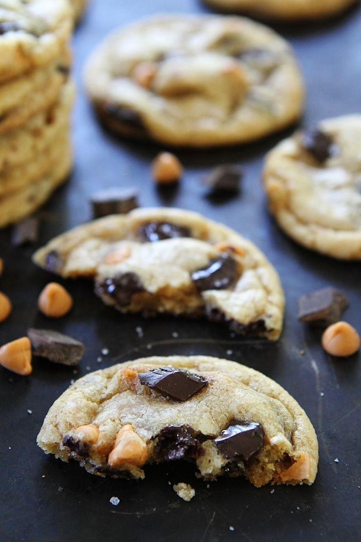 """<p>The butterscotch used here adds such a warm, rich flavor—perfect for fall. Plus, you'll love that these cookies are chewy and soft inside.</p><p><strong><a href=""""https://www.thepioneerwoman.com/food-cooking/recipes/a89643/butterscotch-chocolate-chunk-cookies/"""" rel=""""nofollow noopener"""" target=""""_blank"""" data-ylk=""""slk:Get the recipe."""" class=""""link rapid-noclick-resp"""">Get the recipe.</a></strong> </p>"""