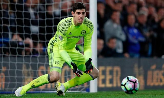 "<span class=""element-image__caption"">Thibaut Courtois missed Chelsea's Premier League defeat at Manchester United after twisting his ankle in an event organised by Chelsea with the NBA. </span> <span class=""element-image__credit"">Photograph: Adrian Dennis/AFP/Getty Images</span>"