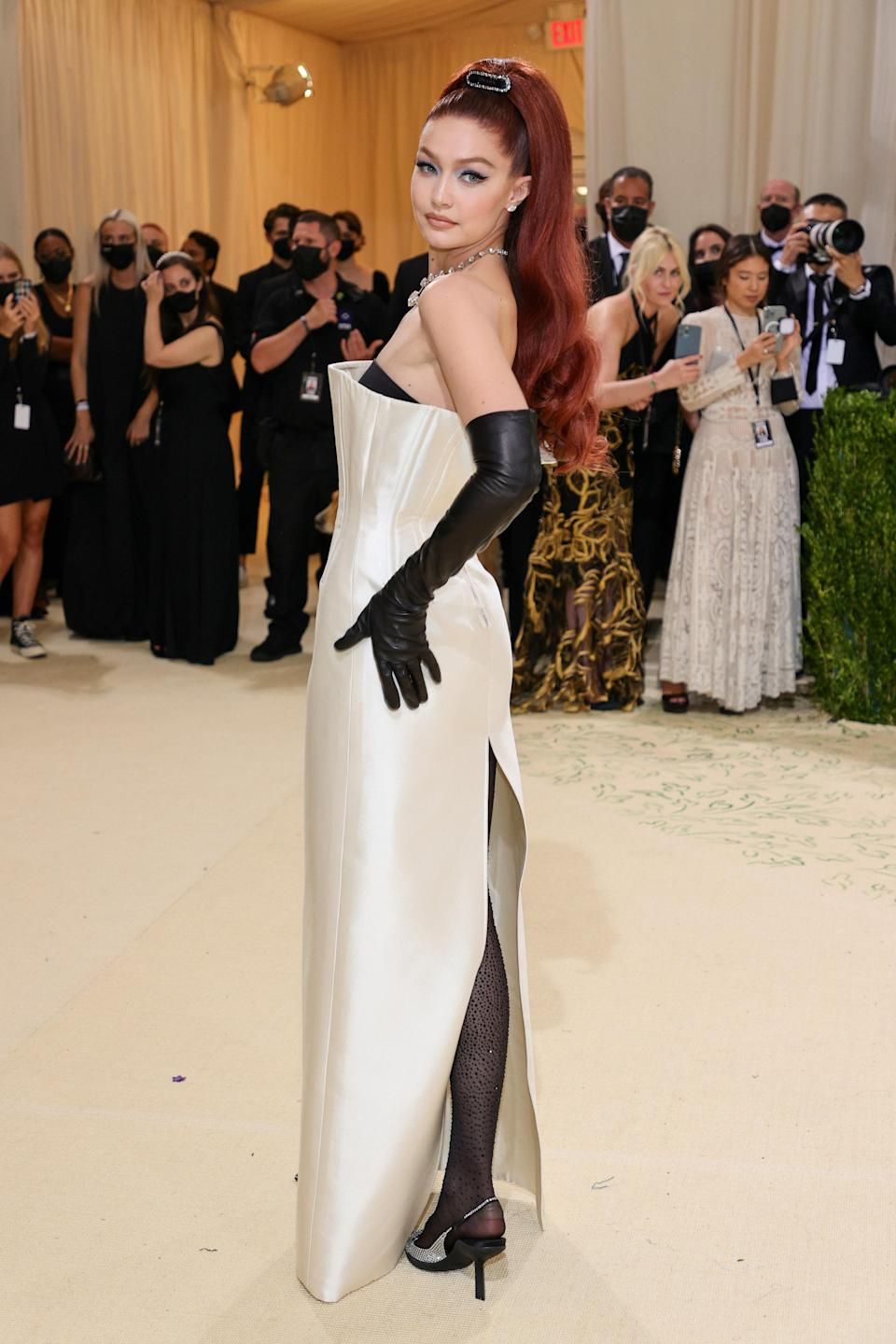 """<h1 class=""""title"""">Gigi Hadid, The 2021 Met Gala Celebrating In America: A Lexicon Of Fashion - Arrivals</h1><cite class=""""credit"""">Getty</cite>"""