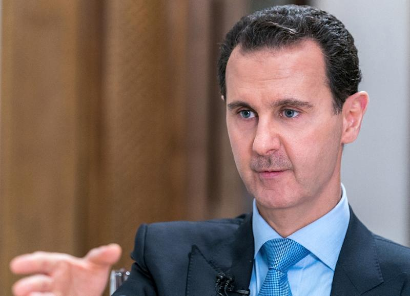 """President Bashar al-Assad said that """"contacts are still ongoing between the Russians, the Americans, and the Israelis"""" on the subject of Syria's south"""