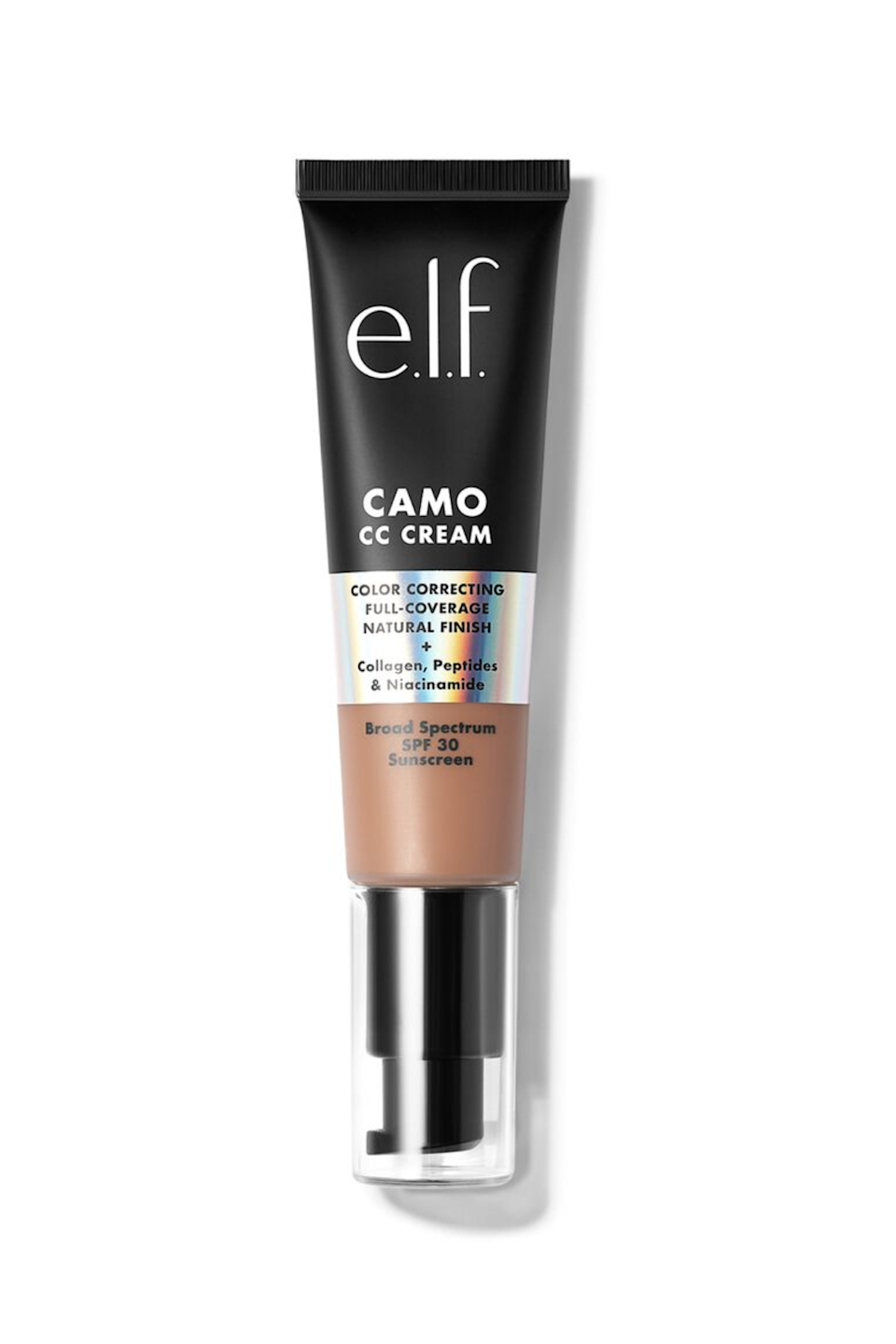 """<p><strong>e.l.f. Cosmetics</strong></p><p>ulta.com</p><p><strong>$14.00</strong></p><p><a href=""""https://go.redirectingat.com?id=74968X1596630&url=https%3A%2F%2Fwww.ulta.com%2Fp%2Fcamo-cc-cream-pimprod2020783&sref=https%3A%2F%2Fwww.seventeen.com%2Fbeauty%2Fmakeup-skincare%2Fg36866431%2Fbest-elf-makeup-skincare-products%2F"""" rel=""""nofollow noopener"""" target=""""_blank"""" data-ylk=""""slk:Shop Now"""" class=""""link rapid-noclick-resp"""">Shop Now</a></p><p>I'll just start by saying that E.L.F.'s Camo CC Cream is a game-changer in any beauty routine. This CC Cream is not only medium to full coverage, but it has SPF 30 to protect from sun damage. It also has ingredients like collagen and niacinamide, which are commonly found in skincare products to help nourish and improve texture.</p>"""
