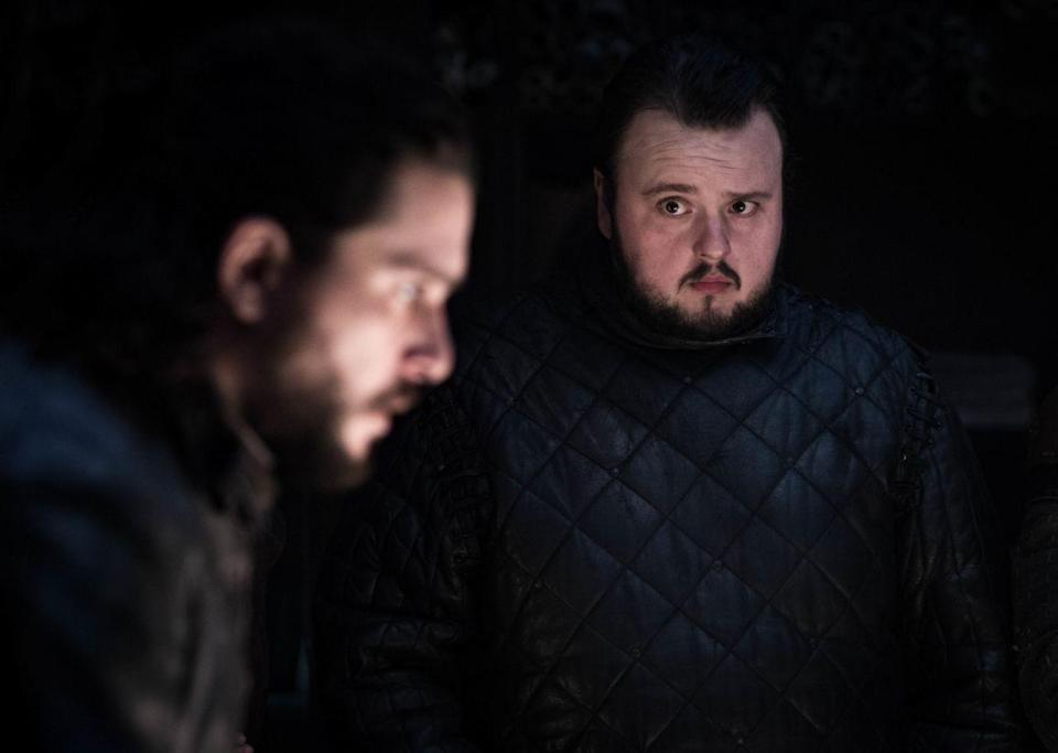 Kit Harington als Jon Snow und John Bradley als Samwell Tarly in Game of Thrones. (Foto: Helen Sloan / HBO)
