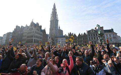 <span>Grote Markt Square in Antwerp, Belgium, hosts the start of the Tour of Flanders&nbsp;</span> <span>Credit: Getty Images </span>