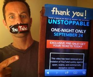 Kirk Cameron's Religious Film 'Unstoppable' Banned by YouTube and Facebook