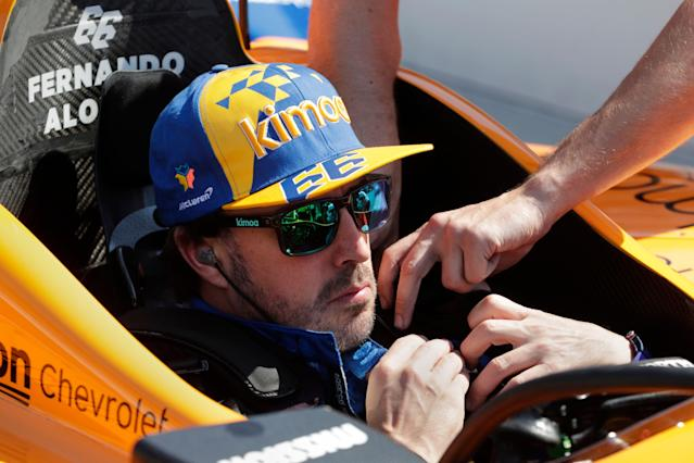"""<a class=""""link rapid-noclick-resp"""" href=""""/olympics/rio-2016/a/7140005/"""" data-ylk=""""slk:Fernando Alonso"""">Fernando Alonso</a> is prepping to compete in his second Indianapolis 500. (AP Photo/Michael Conroy)"""
