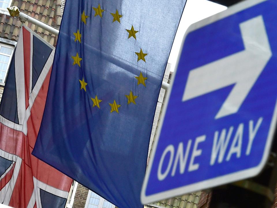 According to a new survey, 52 per cent of people say Britain should leave the EU, while 48 per cent want to remain (Corbis)