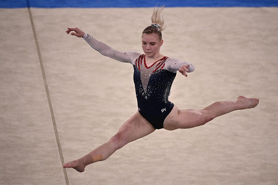 """<p>Biography: 21 years old</p> <p>Event: Women's floor exercise (gymnastics) </p> <p>Quote: """"I think coming back from a day like yesterday ... I'm really proud of myself for being able to put that behind me and finish with probably the best floor routine I've ever done in my life.""""</p>"""