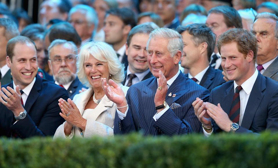 William, Camilla, Charles and Harry at the opening ceremony for the Invictus Games in September 2014 [Photo: Getty]